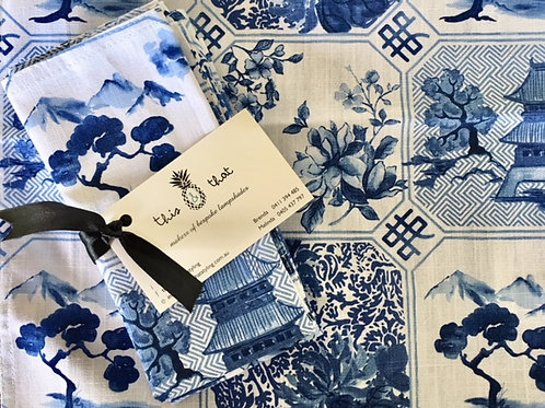Chinese Blue Table Napkins
