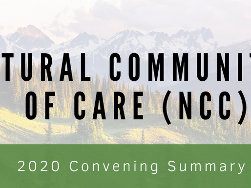 Natural Communities of Care: 2020 Convening Summary