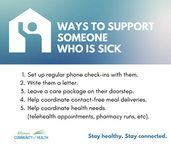 Supporting someone who is sick- social m