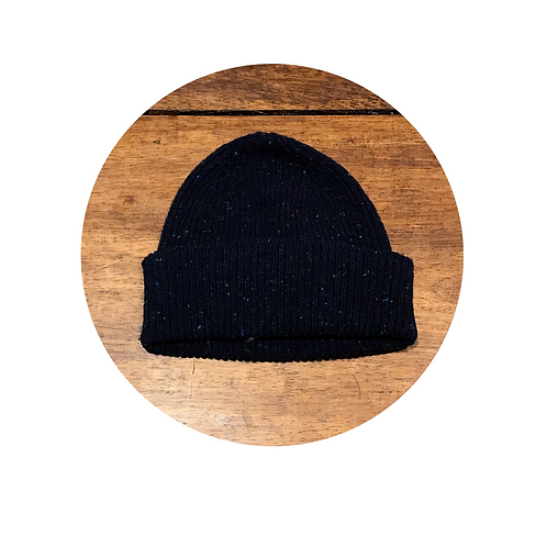 Bonnet Navy Chiné