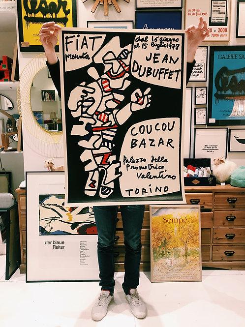 Jean Dubuffet Affiche originale Turin 1978