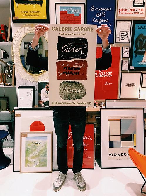 Affiche Galerie Sapone 1973