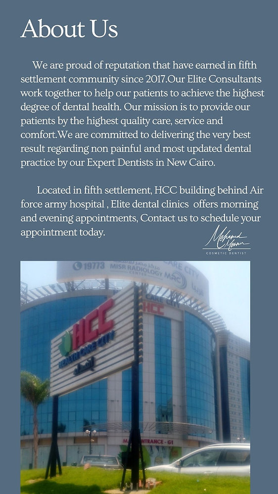 Elite Dental Clinics New Cairo