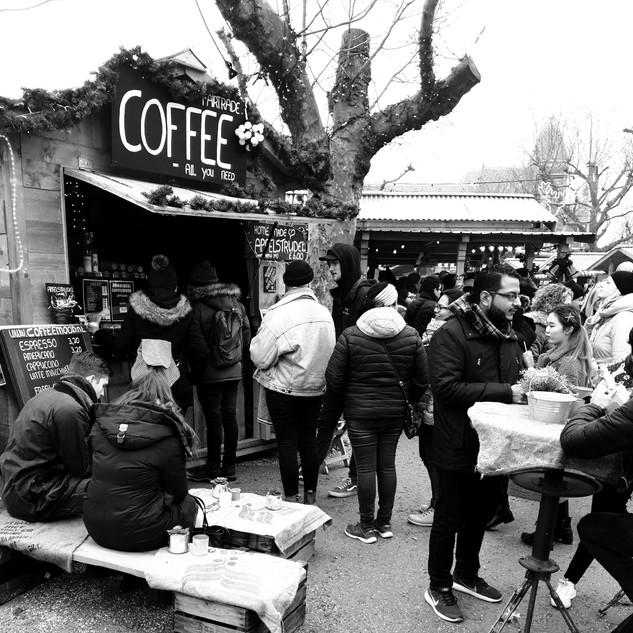 Ons Winters Koffiehuisje op het Museumplein