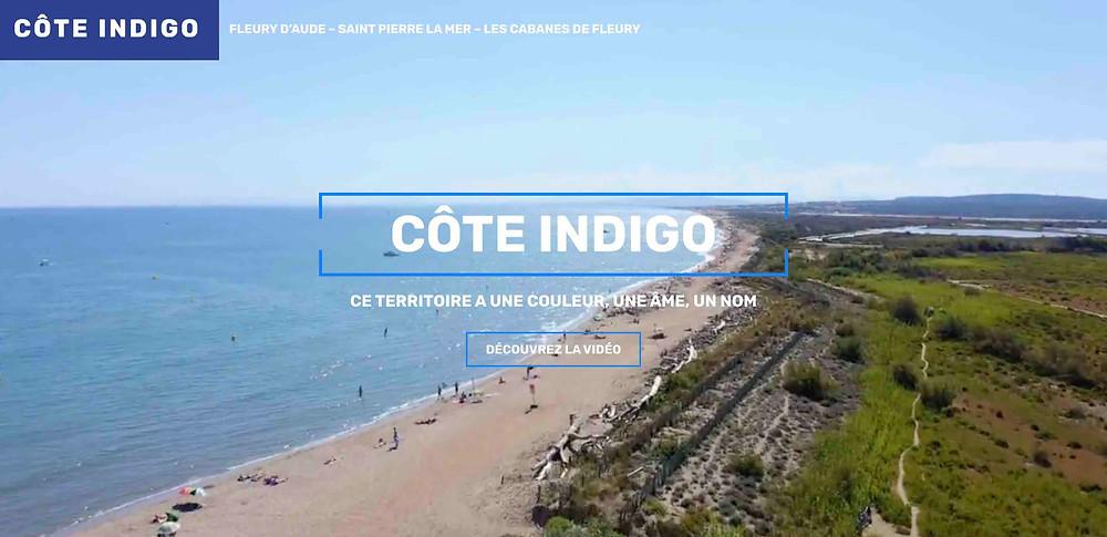 Côte Indigo, site internet