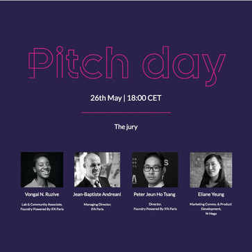Virtual Pitch Day: N-hega has been invited as a jury to help select a fashion startup to win a Commu