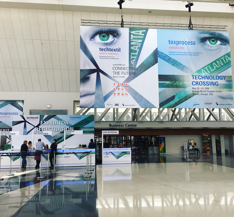 N-hega just got back from Texprocess Americas! - the largest technical textile, nonwoven, machinery,