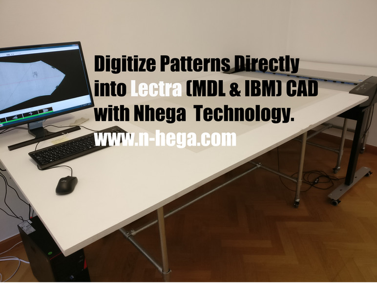 Digitize patterns directly into Lectra (Lectra Digitizer)