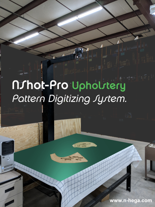 Carsons Hospitality (Furniture/Upholstery) uses the NShot-Pro Pattern Digitizer Camera System for DX