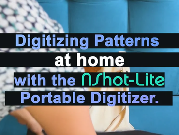 Digitizing Patterns remotely with the NShot-Lite. All you need is a camera, background mat, and our