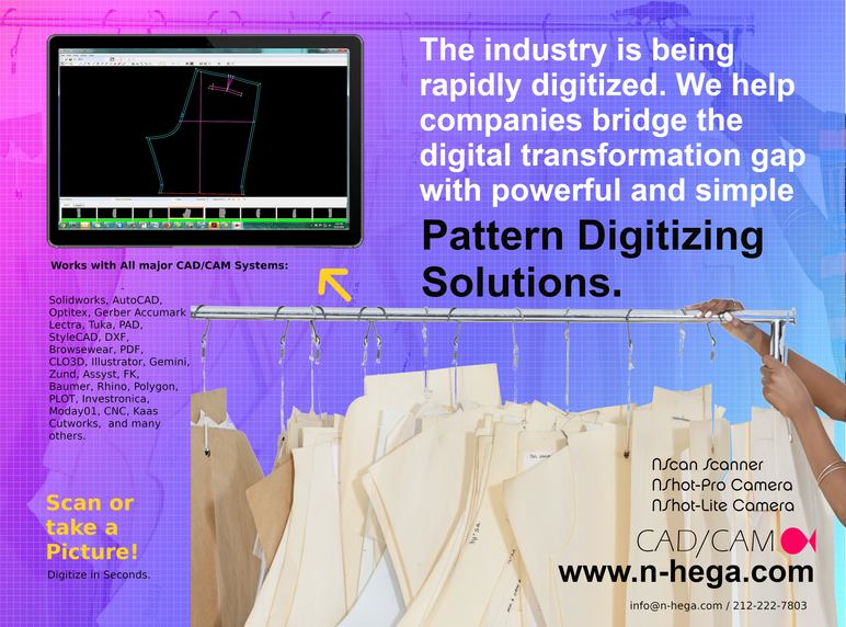 Digitize your 2D pattern automatically with Nhega automated Systems. The NScan/Nshot are compatible