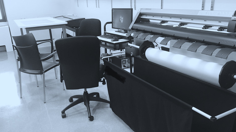 NScan Premium Pattern Digitizer system being used with Accumark Gerber CAD and Plotter system.