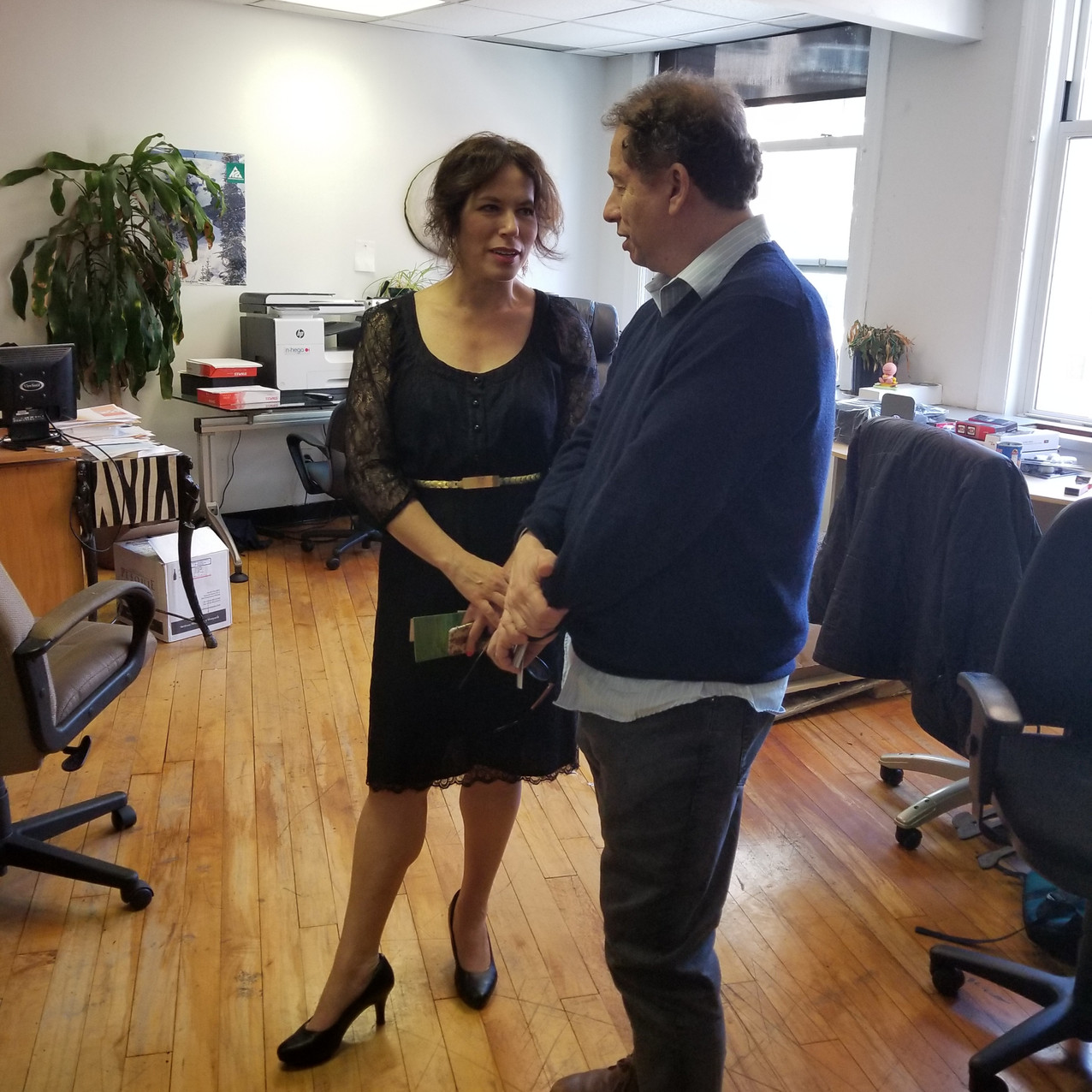 Professor Davi Geiger & Elissa Bloom