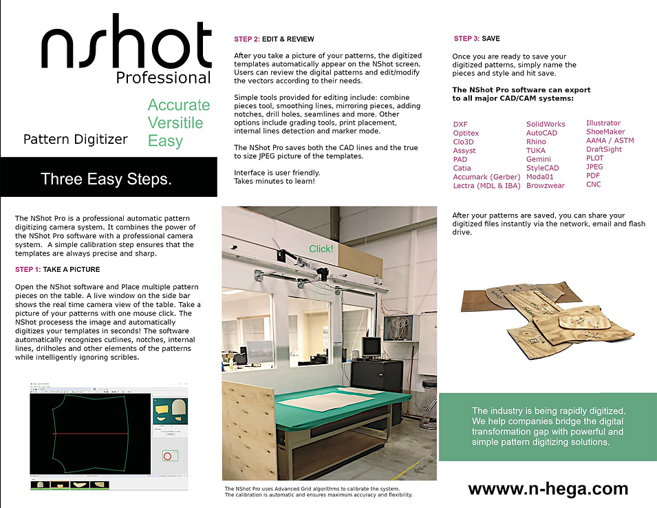 NShot Pro Brochure photo digitizer