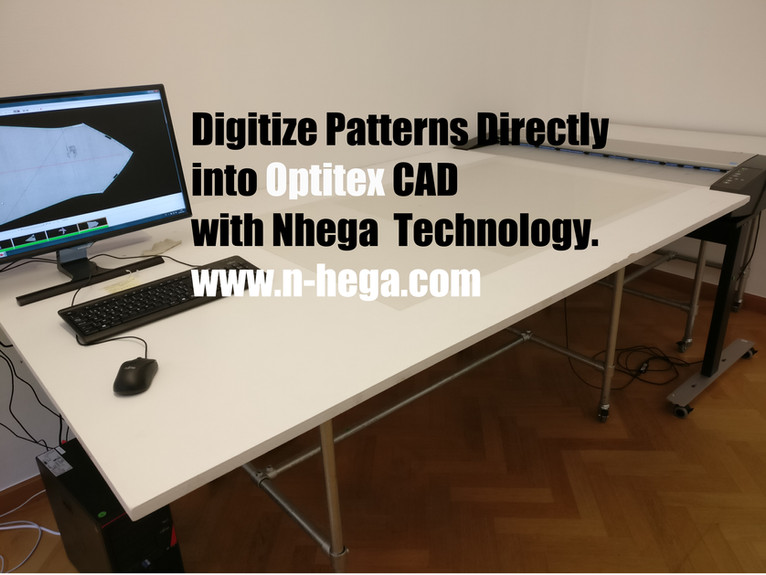 Digitize patterns directly into Optitex