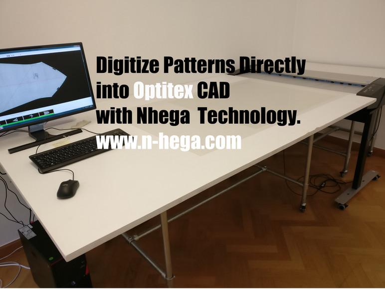 Digitize patterns directly into Optitex