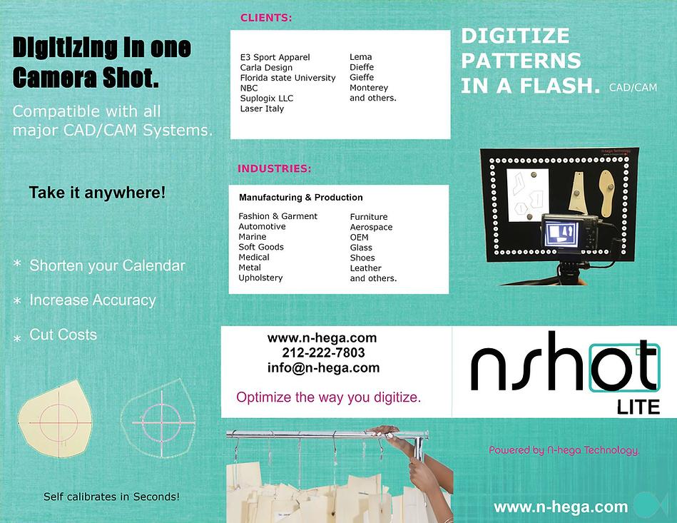 NShot Lite Brochure Photo Software digitizer