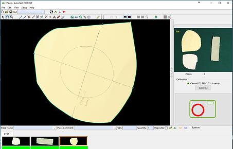 NShot Pro Pattern Digitizer Software