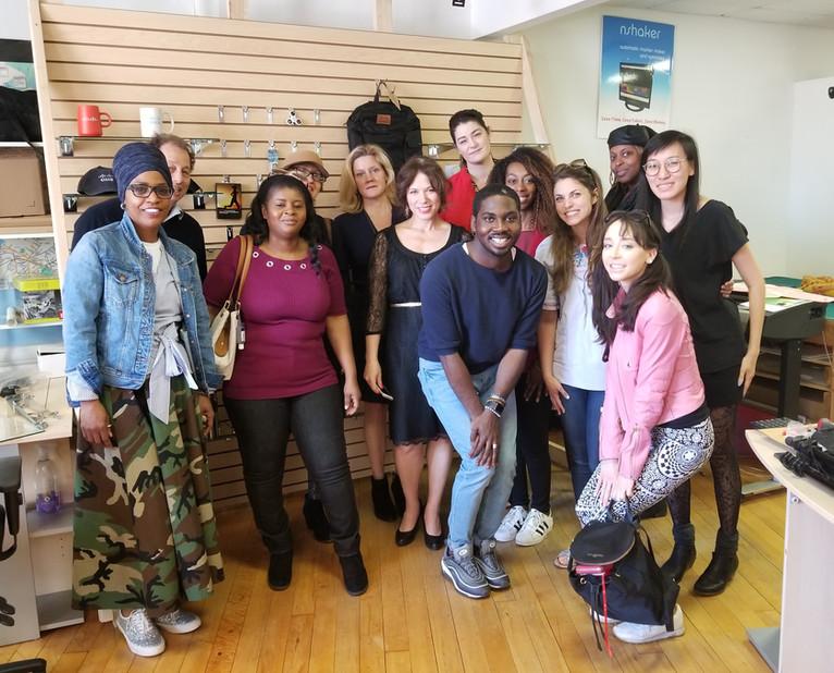 Professor Maura Jurgrau from Parsons with Philadelphia & Brooklyn Fashion Incubator @t Nhega Tec