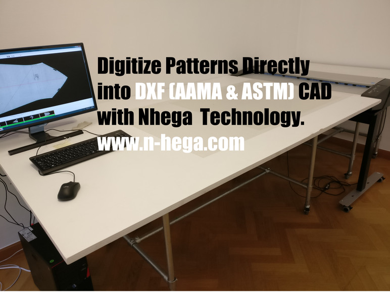 Digitize patterns & Save it as DXF files.