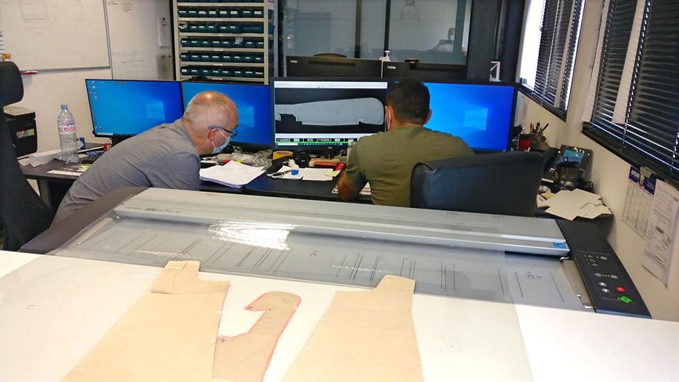 Aircraft pattern digitizer