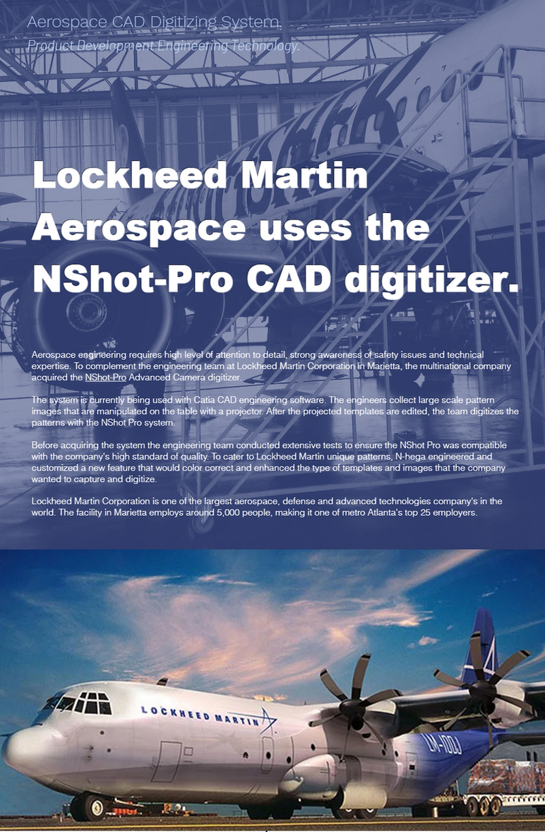 Lockheed Martin Aerospace Corporation is now using the NShot-Pro with Catia CAD.