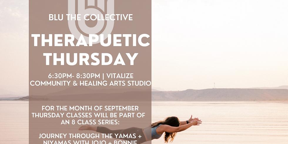 Therapeutic Thursday - Yamas + Niyamas