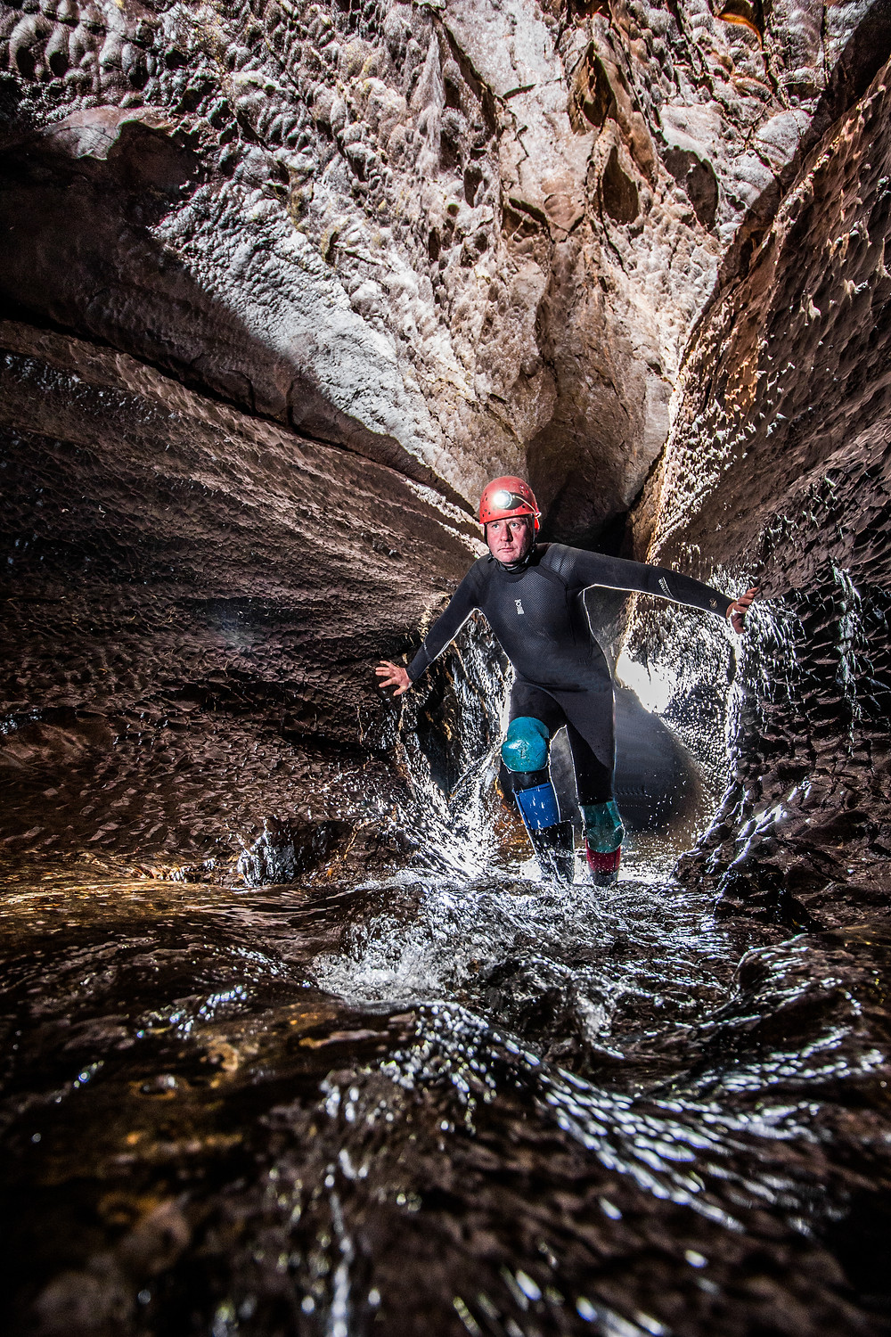 Richard Walker in Ogof Ffynnon Ddu, Wales. Image: Christine Grosart