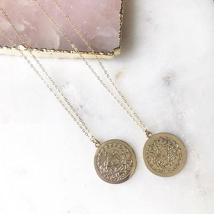 Golden Girl Coin Necklace