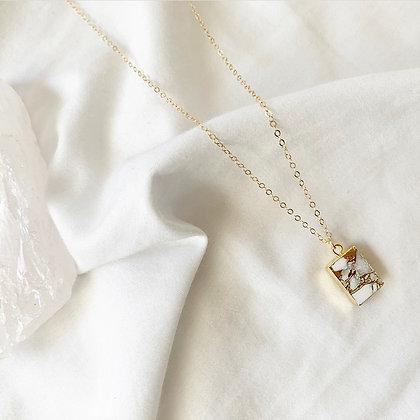 Howlite Electro Necklace