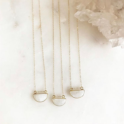 Short Moonstone Necklace