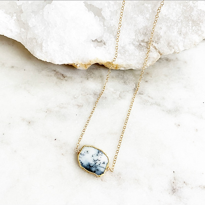 Pretty Little Thing Necklace (Dendrite Opal)