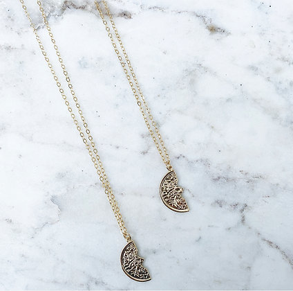 Half Coin BFF Necklace