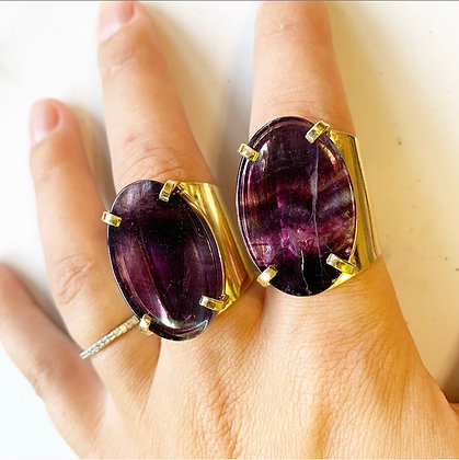 Fluorite Cuff Rings