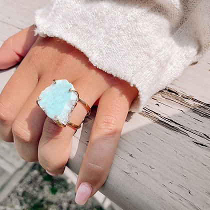 Statement Larimar Rings
