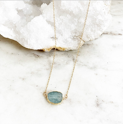 Pretty Little Thing Necklace (Aquamarine)