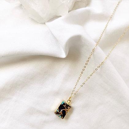 Sapphire Electro Necklace