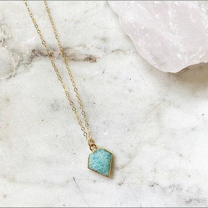 Amazonite Dagger Necklace