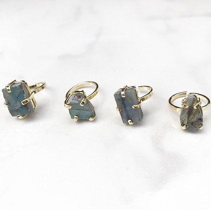 Labradorite Dainty Ring