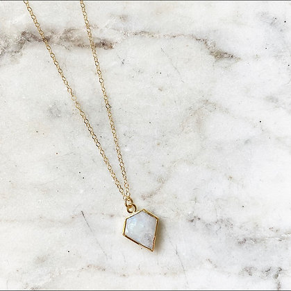 Moonstone Dagger Necklace