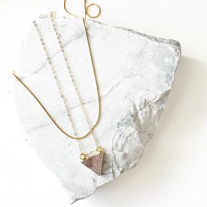 Triangle Druzy Necklace