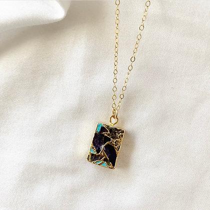Turq Amethyst Electro Necklace