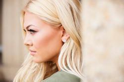 Raw Druzy Earring