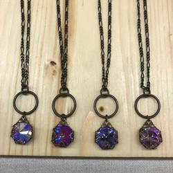 Swarovski Crystal Rivoli Necklace. We change rivoli colors with the seasons