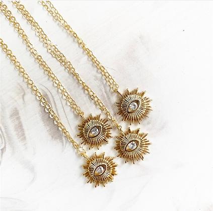 Stay Golden Evil Eye Necklace