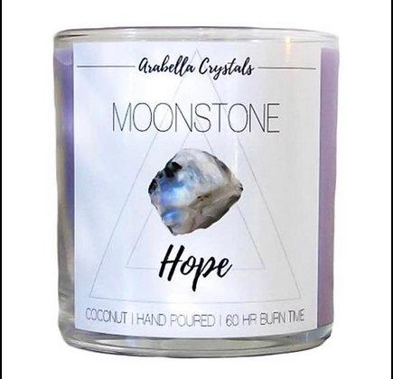 Large Hidden Gem Moonstone Candle