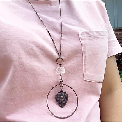 Quartz Buddha Necklace