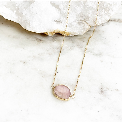 Pretty Little Thing Necklace (Rose Quartz)