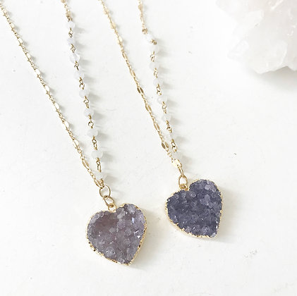 Amethyst + Moonstone Chain Necklace