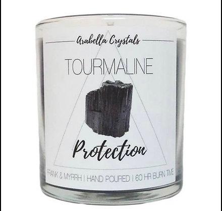 Large Black Tourmaline Hidden Gem Candle